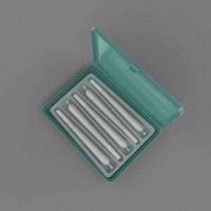 Crativ slim with RPET thermoform insert, 5 x 0.5 gram prerolls