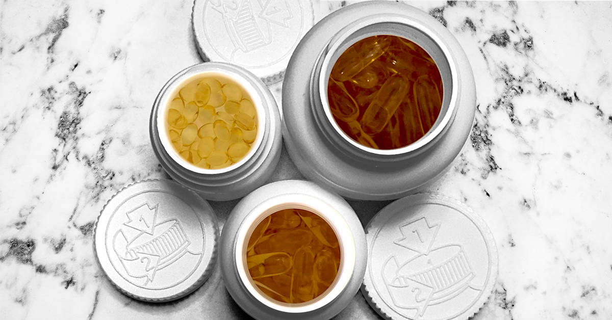 THC and CBD Softgel Packaging