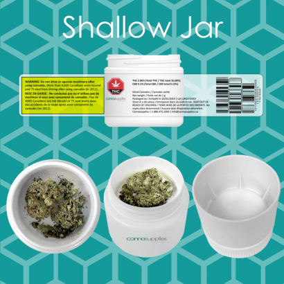 Designed to maximize the principal display panel for the required to create a compliant labelling area for the Canadian Cannabis market