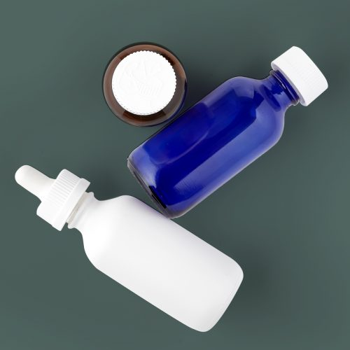 Boston Round bottle for Cannabis Oil