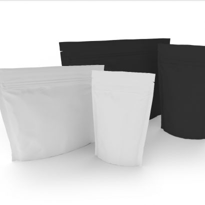 Cannasupplies Stock Black and White CR Pouches