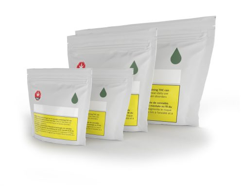 Cannasupplies custom printed CR pouches, made to order