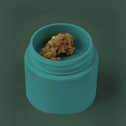 This unique double-wall design forms a shallow bowl, ideal for packaging small formats. Outer labelling area maintains the minimum labelling panel for a compliant label for the Canadian cannabis market.