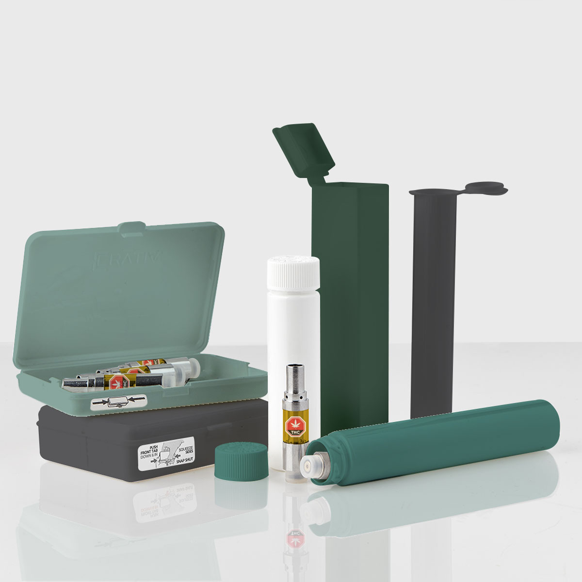 Unique Child-Resistant Packaging Solutions for Single and Multi-Pack Formats for prerolls, vape, etc.