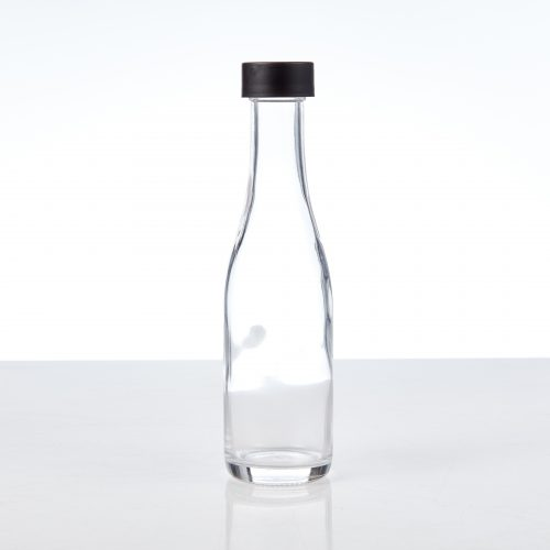 Glass Beverage bottle with child-resistant closure