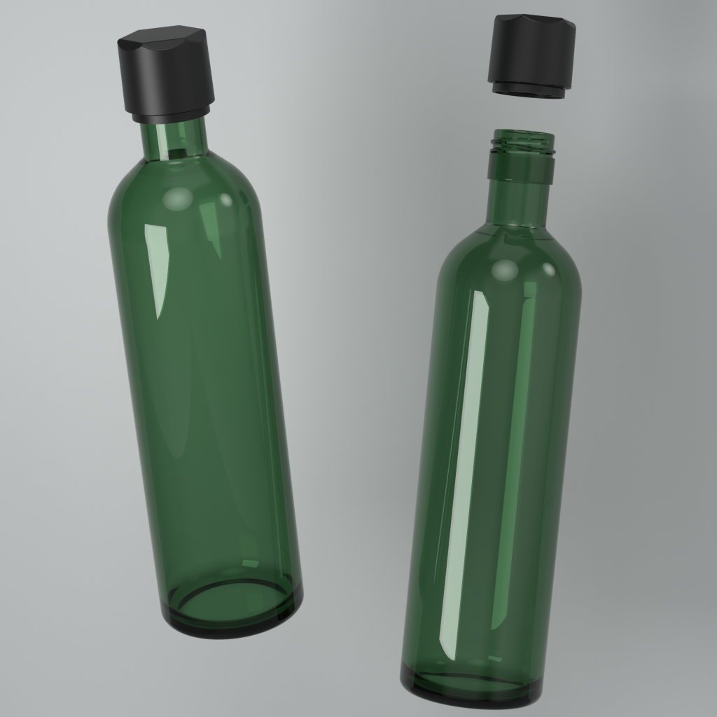 Cannasupplies wine bottle beveled CR cap with TE Ring