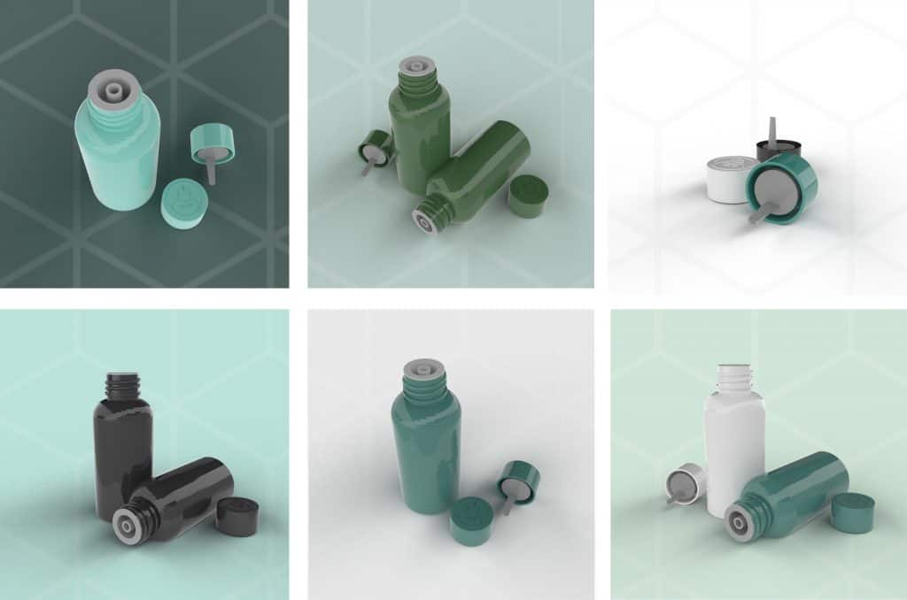 Cannasupplies dosing cap offers an integrated child-resistant solution, compatible to any 18mm or 20mm bottle neck