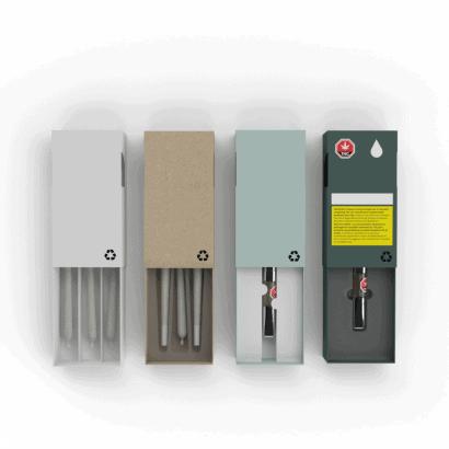 Cannasupplies all-paper box, custom inserts for prerolls and vape