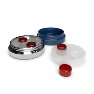 Cannasupplies tin with custom insert for edibles