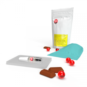 Child-Resistant Pouch with custom thermoform insert to help secure product in place
