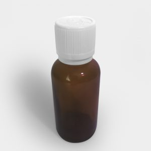 Oil bottle cap with integrated orifice reducer pre-assembled in cap (18 mm neck)
