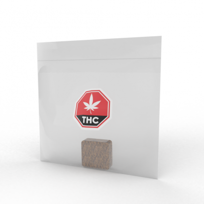 Clear Poly Bag with THC Symbol Printed