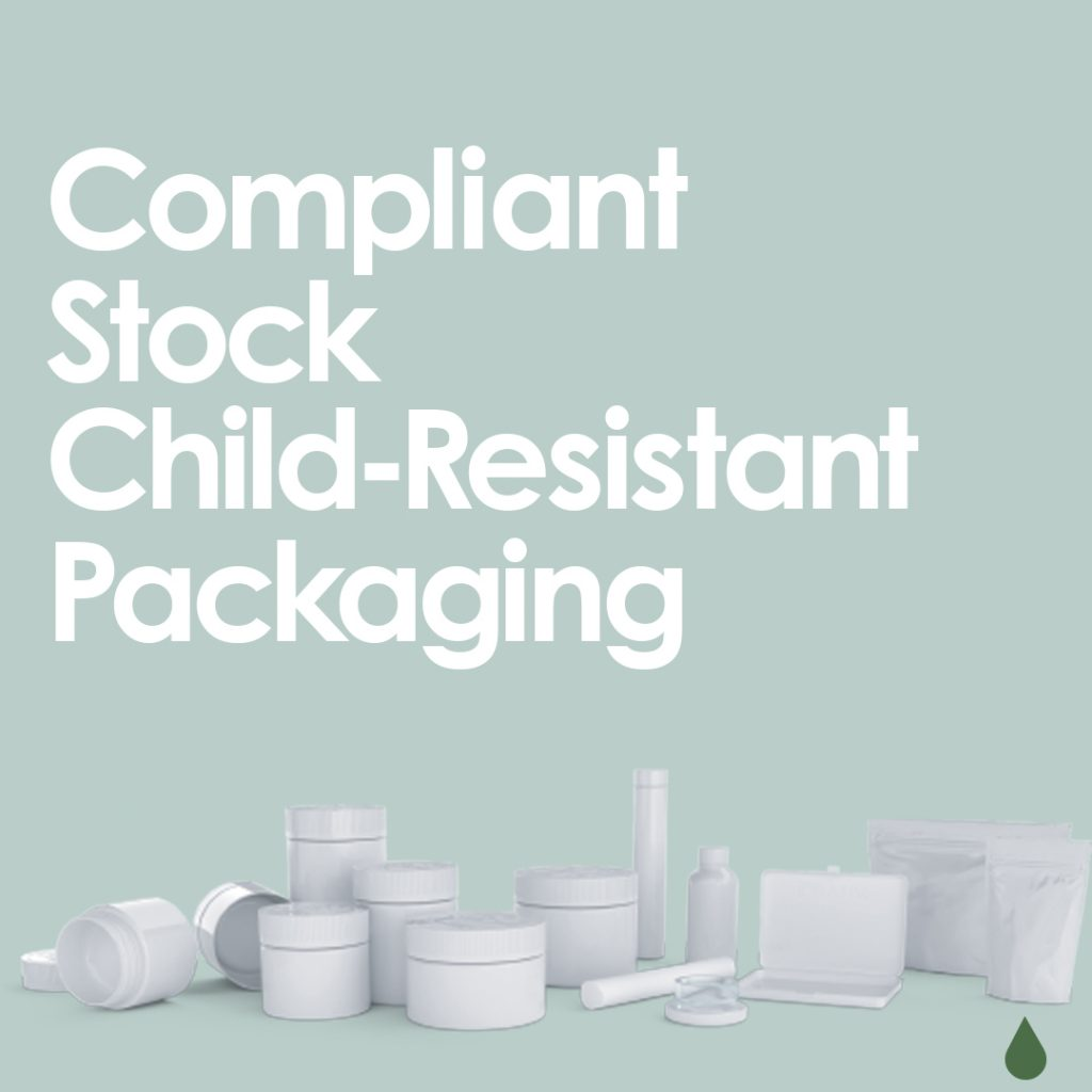 Cannasupplies Compliant Stock Child-Resistant Packaging