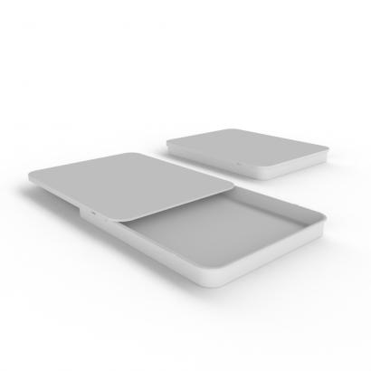 Cannasupplies Stock White CR Sliding Tin