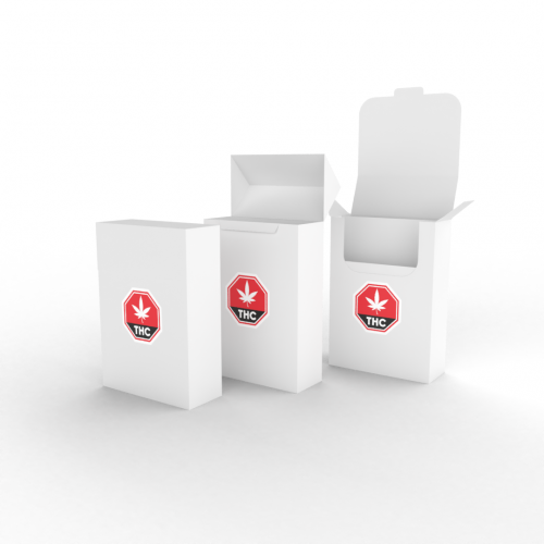Cannasupplies Paper Boxes with preprinted THC symbol